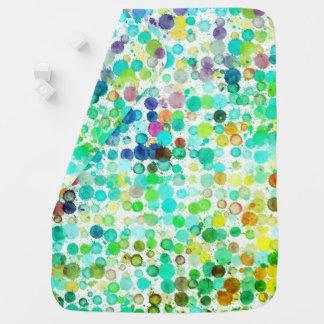 Art paint rainbow Receiving Blanket
