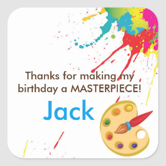 Art Painting Party favor goodie bag stickers