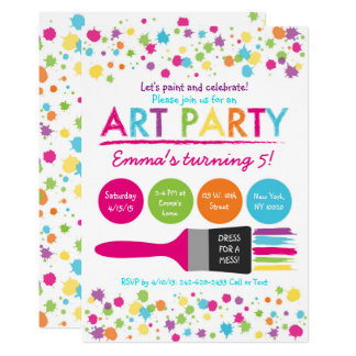 Art Party Birthday Card