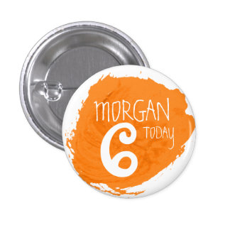 Art party paint dab orange name age button
