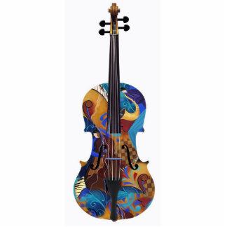 Art Photo 3D Colorful Photo Sculpture Violin Cello