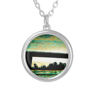 Art Photo The Bridge to St Joseph Island Silver Plated Necklace