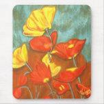 Art Poppies Mouse Mats