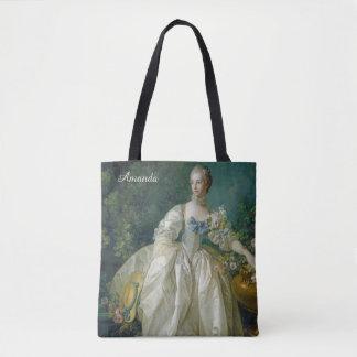 Art Portrait custom monogram bags Tote Bag