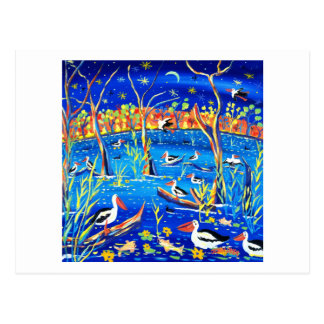Art Postcard: Pelican Roost, Banrock Station