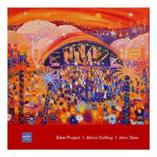 Art Poster: Eden Project LIVE 8 by John Dyer Poster