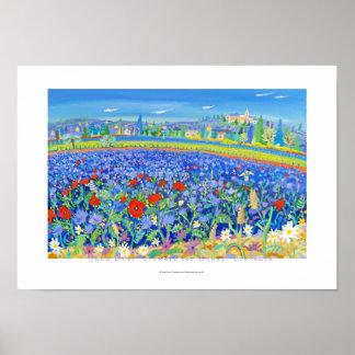 Art Poster: Flowers for Honey, Provence. Cairanne