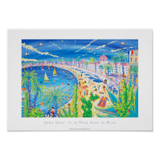 Art Poster: It is Very Nice in Nice, Côte d'Azur Poster