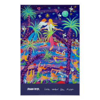 Art Poster: Love under the Moon Poster