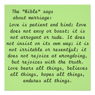 Art Poster- Marriage Scripture