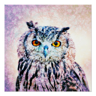 Art - Poster Owl Mixed Media