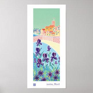 Art Poster: Purple Iris, Antibes, Côte d'Azur Poster