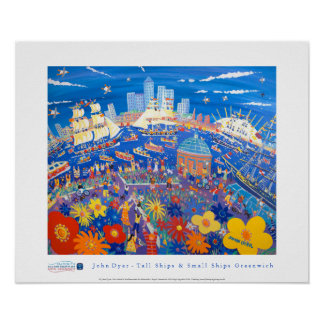 Art Poster: Tall Ships and Small Ships Greenwich