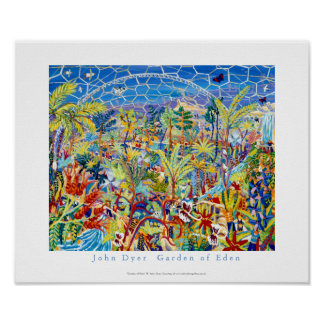 Art Poster: The Eden Project by John Dyer Poster