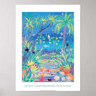 Art Poster: Tropical Garden Paradise, Côte d'Azur Poster