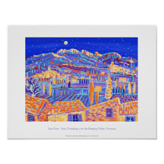Art Poster: Twinkling Stars, Provence Poster