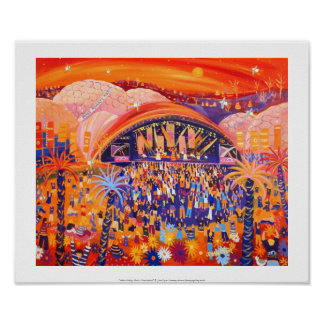 Art Print: Africa Calling Live 8 The Eden project Poster