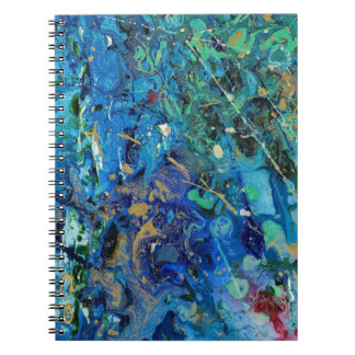 Art print blue notebook