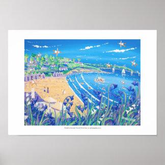 Art Print: Bluebells at Swanpool, Cornwall Poster