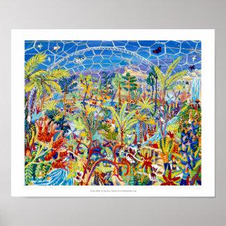 Art Print: Garden of Eden, The Eden project Poster