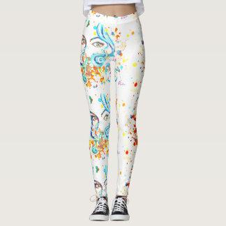 Art print leggings. leggings