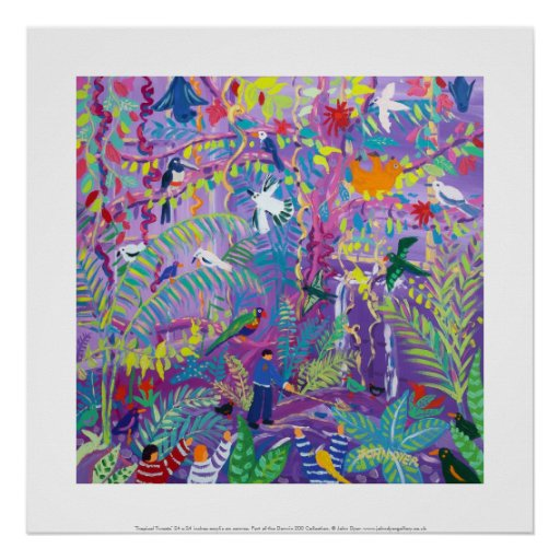 Art Print: Tropical Tweets