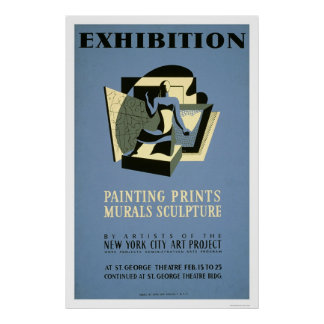 Art Project New York 1940 WPA Poster