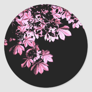 Art purple foliage classic round sticker