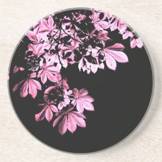Art purple foliage coaster