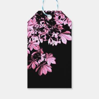 Art purple foliage gift tags