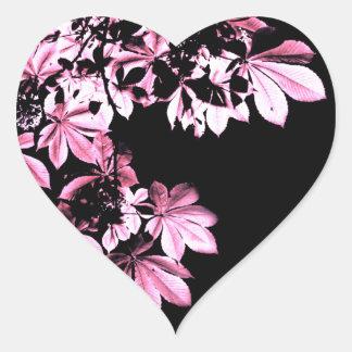 Art purple foliage heart sticker