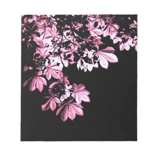 Art purple foliage notepad