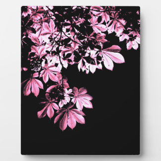 Art purple foliage plaque