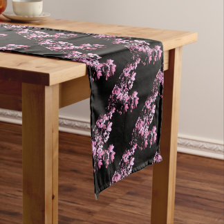 Art purple foliage short table runner