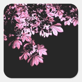 Art purple foliage square sticker