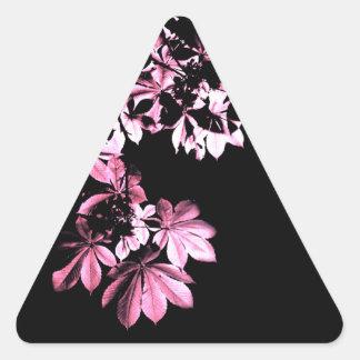 Art purple foliage triangle sticker