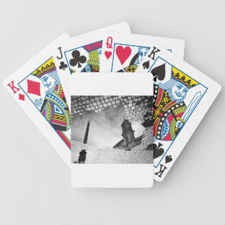 Art reflected bicycle playing cards