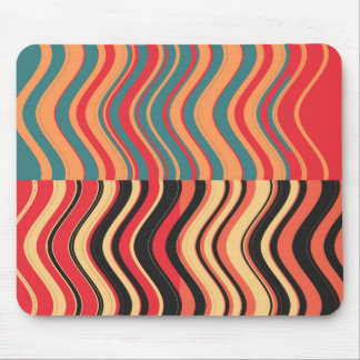 Art Retro Colorful Wave Abstract Mouse Pad