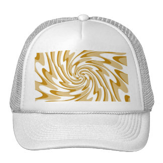 Art Retro Swirl Waves Abstract Cap