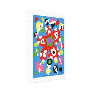 Art salad 2 canvas print