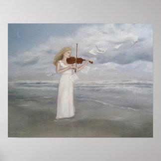 Art - Serenade Fantasy Art  Poster