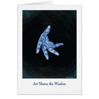 Art Shares the Wisdom Greeting Card