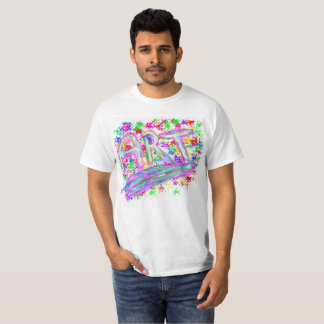 Art shirt with paint splatter