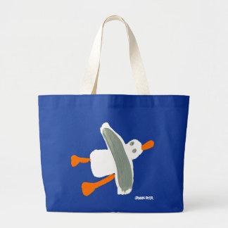 Art Shopping Bag: Jumbo Blue Bag and Seagull