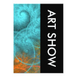 Art Show Spiral Design 13 Cm X 18 Cm Invitation Card