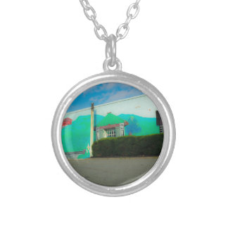 Art Silver Plated Necklace