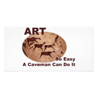 Art- So Easy A Caveman Can Do It Picture Card