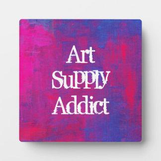 Art Supply Addict Plaque