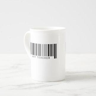 Art Teacher Barcode Tea Cup