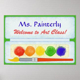 Art Teacher Classroom Welcome Sign | Paint Palette